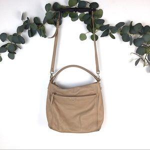Kate Spade Tan Cream Leather Crossbody Bag Purse